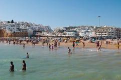 Estate della spiaggia di Albufeira Immagini Stock Libere da Diritti