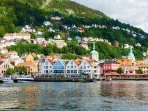 Estate di Bergen Waterfront Norway Fotografia Stock Libera da Diritti