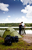 estate di campeggio Fotografia Stock Libera da Diritti