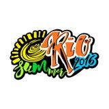 Estate 2016 di Rio de Janeiro Brazil illustrazione vettoriale