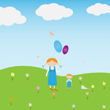 Estate e bambini Royalty Illustrazione gratis
