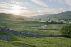 Estate EVE delle vallate di Yorkshire Fotografie Stock Libere da Diritti