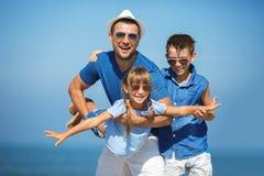 Estate, famiglia, concetto di vacanza fotografia stock