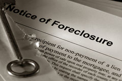 estate foreclosure house key notice old real Стоковые Фото