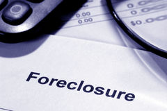estate foreclosure notice real 库存图片