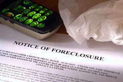 estate foreclosure notice real tissue Стоковая Фотография