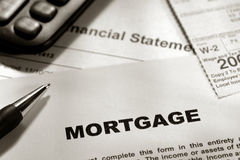 estate form mortgage real 图库摄影