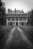 Estate home in black and white Royalty Free Stock Photos