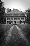 Estate home in black and white