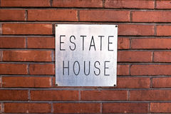 Estate House Sign Stock Photo