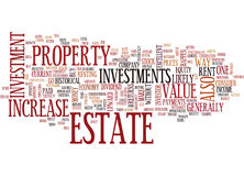 Estate Investments Word Cloud Concept Stock Photos