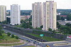 Estate in Katowice, Poland at Avenue Rozdzienskiego Stock Image