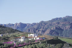 Estate in Malibu. Canyon, CA Stock Photo