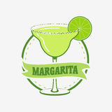 Estate Margarita Cocktail Vector Concept Immagine Stock