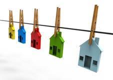 Estate market. 3D render image representing an estate market Stock Images