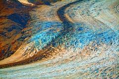 Estate naturale del Canada della neve del ghiaccio blu del ghiacciaio dell'Alaska Fotografia Stock