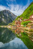 Estate nel lago Hallstattersee in Hallstatt, alpi, Austria Fotografie Stock Libere da Diritti