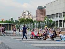 Estate nel parco Muzeon a Mosca Fotografia Stock Libera da Diritti