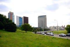Estate nella capitale del centro urbano della Lituania Vilnius Fotografia Stock