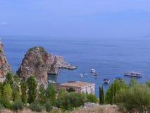 Estate nella costa siciliana - Scopello Immagine Stock Libera da Diritti