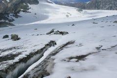 Estate nelle alpi svizzere - Monte Rosa, macchina per colata continua, Polux, il Cervino - ghiacciai alpini Fotografia Stock