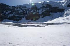 Estate nelle alpi svizzere - Monte Rosa, macchina per colata continua, Polux, il Cervino - ghiacciai alpini Immagini Stock