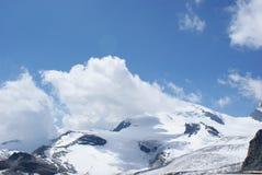 Estate nelle alpi svizzere - Monte Rosa, macchina per colata continua, Polux, il Cervino - ghiacciai alpini Immagine Stock