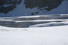 Estate nelle alpi svizzere - Monte Rosa, macchina per colata continua, Polux, il Cervino - ghiacciai alpini Fotografia Stock Libera da Diritti