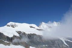 Estate nelle alpi svizzere - Monte Rosa, macchina per colata continua, Polux, il Cervino - ghiacciai alpini Fotografie Stock