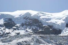 Estate nelle alpi svizzere - Monte Rosa, macchina per colata continua, Polux, il Cervino - ghiacciai alpini Immagine Stock Libera da Diritti