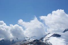 Estate nelle alpi svizzere - Monte Rosa, macchina per colata continua, Polux, il Cervino - ghiacciai alpini Fotografie Stock Libere da Diritti