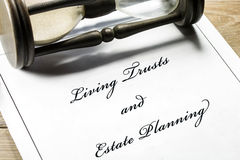 Estate planning document Royalty Free Stock Photo