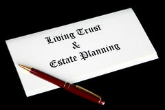Estate planning documents stock photography