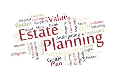 Estate Planning Word Cloud Royalty Free Stock Photo