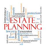 Estate Planning Word Cloud Concept Royalty Free Stock Images