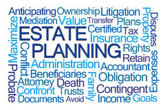 Estate Planning Word Cloud Stock Image