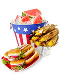 Estate: Pranzo patriottico festivo di festa Fotografia Stock Libera da Diritti