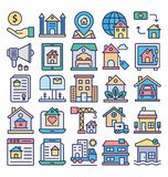 Estate Property and Law Isolated Vector Icons Set that can easily modify or edit Estate Property and Law Isolated Vector Icons Se vector illustration