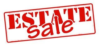 Estate sale. Stamp with text estate sale inside,  illustration Royalty Free Stock Photo