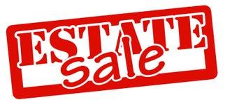 Estate sale. Stamp with text estate sale inside,  illustration Stock Photos