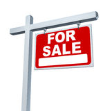 Estate Sign For Sale Sign royalty free illustration