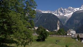 Estate in Soglio (Graubunden, Svizzera) Fotografia Stock Libera da Diritti