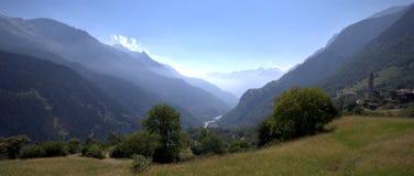 Estate in Soglio (Graubunden, Svizzera) Fotografie Stock Libere da Diritti