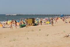 Estate su una spiaggia in un Palanga Immagine Stock Libera da Diritti