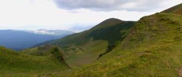 Estate, Ucraina, montagna, tramonto, carpatico, catena montuosa, paesaggi, turismo, Fotografie Stock Libere da Diritti