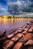 Estate vicino a Charles Bridge a Praga, repubblica Ceca Fotografia Stock Libera da Diritti