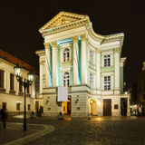 Estates Theatre in Prague. Estates Theatre (Stavovske divadlo) in Prague at night Stock Photos