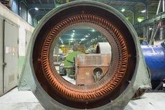 Estator de un motor eléctrico grande Imagen de archivo libre de regalías