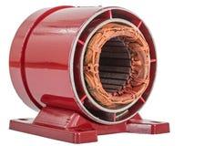 Estator do motor elétrico, isolado no fundo branco foto de stock