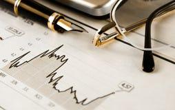 Estatísticas de operação bancária Imagem de Stock